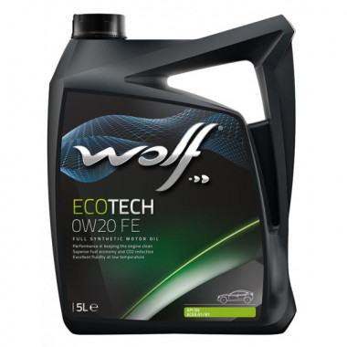 Моторное масло Wolf ECOTECH 0W-20 D1 FE 5 литров.
