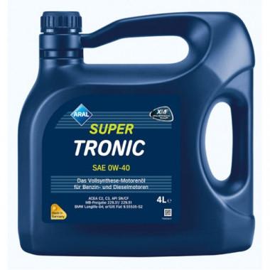 Моторное масло Aral SuperTronic 0W-40 4 литра.