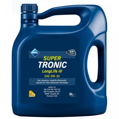 Моторное масло Aral SuperTronic LongLife III 5W-30 5 литров.