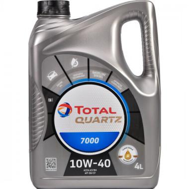 Моторное масло Total Quartz 7000 10W-40 4 литра.