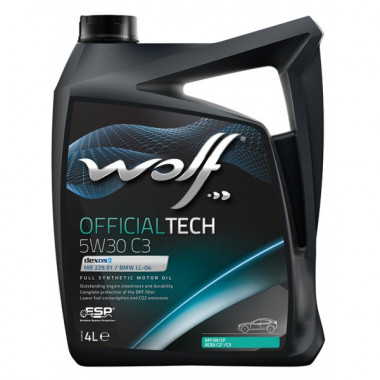Моторное масло Wolf OFFICIALTECH 5W-30 C3 4 литра.