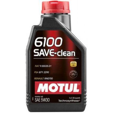 Моторное масло MOTUL 6100 SAVE-CLEAN 5W-30 1 литр.