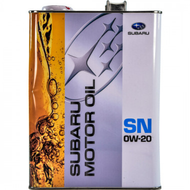 Моторное масло Subaru Motor Oil 0W-20 4 литра.