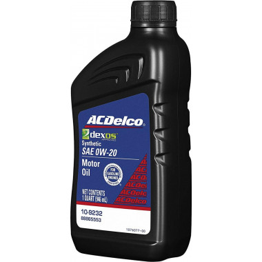 Моторное масло ACDelco Dexos1 Full Synthetic 0W-20 0,946 литра.