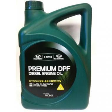 Моторное масло Hyundai Kia 5W-30 DPF Diesel 6 литров.