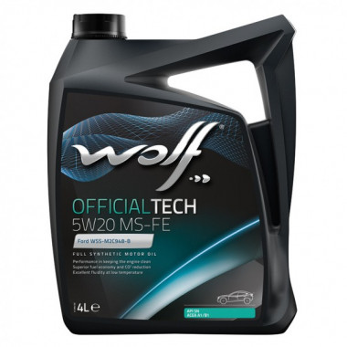 Моторное масло Wolf OFFICIALTECH 5W-20 MS-FE 4 литра.