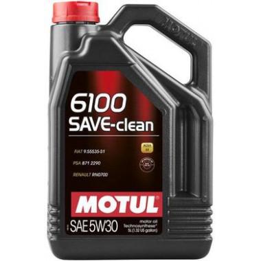 Моторное масло MOTUL 6100 SAVE-CLEAN 5W-30 5 литров.
