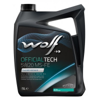 Моторное масло Wolf OFFICIALTECH 5W-20 MS-FE 5 литров.