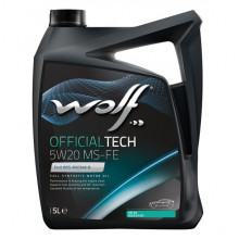 Моторное масло Wolf OFFICIALTECH 5W-20 MS-FE 5 литров.