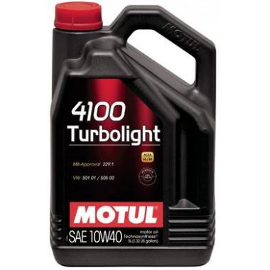 Моторное масло MOTUL 4100 TURBOLIGHT 10W-40 5 литров.