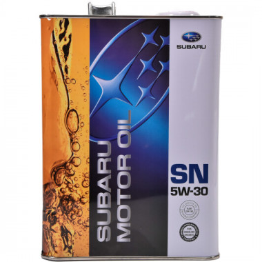 Моторное масло Subaru Motor Oil 5W-30 4 литра.