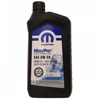 Моторное масло Mopar MaxPro 0W-20 0,946 литра. (68218950AB)