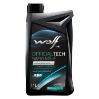 Моторное масло Wolf OFFICIALTECH 5W-30 MS-F 1 литр.