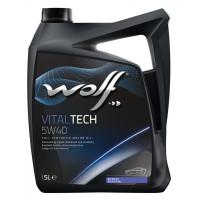 Моторное масло Wolf VITALTECH 5W-40 5 литров.