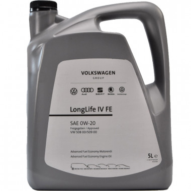 Моторное масло VW Audi Skoda Longlife IV 0W-20 5 литров.