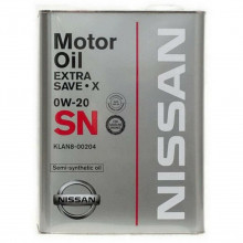 Моторное масло Nissan Extra Save X 0W-20 4 литра.