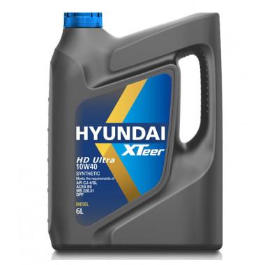 Моторное масло Hyundai Xteer Diesel Ultra HD SJ-4 10W-40 6 литров.