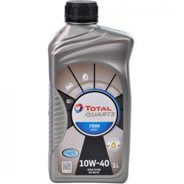 Моторное масло Total Quartz 7000 10W-40 Diesel 1 литр.