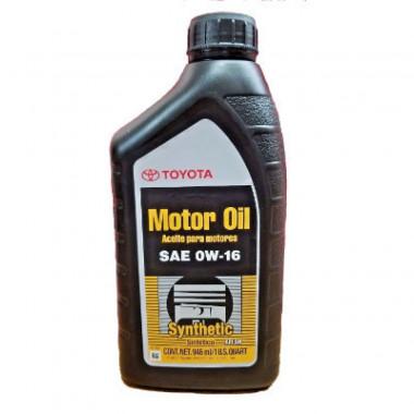 Моторное масло Toyota 0W-16 0,946 литра.