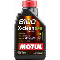 Моторное масло MOTUL 8100 X-CLEAN EFE 5W-30 1 литр.