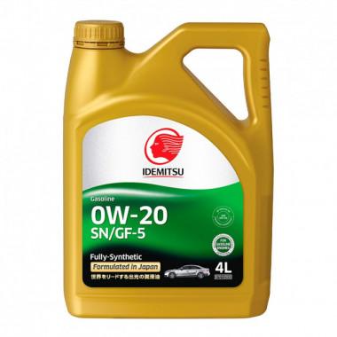 Моторное масло Idemitsu SN/GF-5 0W-20 4 литра.