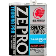 Моторное масло Idemitsu ZEPRO Touring PRO SN/GF-5 0W-30 4 литра.