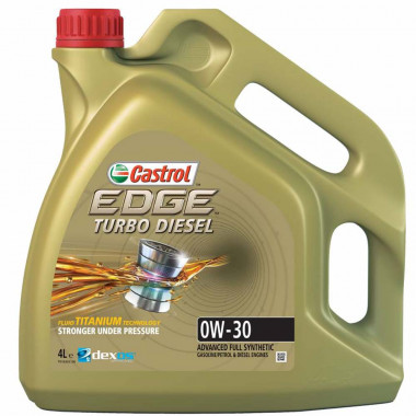 Моторное масло Castrol EDGE TITANIUM TURBO DIESEL 0W-30 4 литра.
