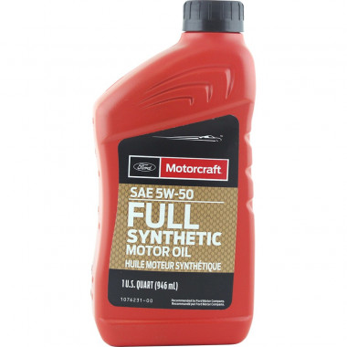 Моторное масло Ford Motorcraft Full Synthetic 5W-50 0,946 литра.