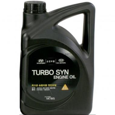 Моторное масло Hyundai Kia 5W-30 SM TURBO SYN 4 литра.