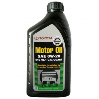 Моторное масло Toyota 0W-20 0,946 литра.