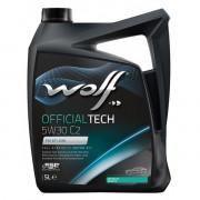 Моторное масло Wolf OFFICIALTECH 5W-30 C2 5 литров.