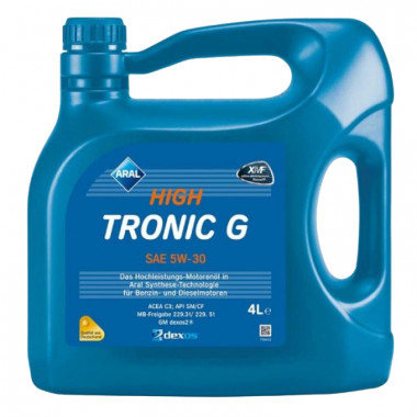 Моторное масло Aral HighTronic G 5W-30 4 литра.