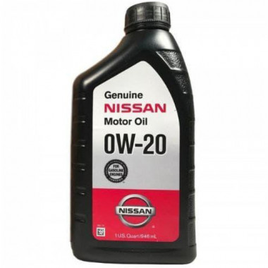 Моторное масло Nissan Genuine Motor Oil 0W-20 (999PK000W20N) 0,946 литра.