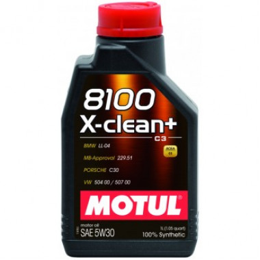 Моторное масло MOTUL 8100 X-clean+ 5W-30 1 литр.