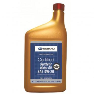 Моторное масло Subaru 0W-20 0,946 литра.