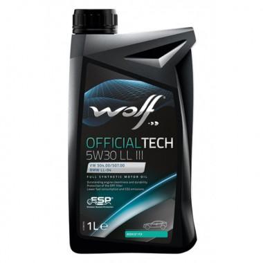 Моторное масло Wolf OFFICIALTECH 5W-30 LL III 1 литр.