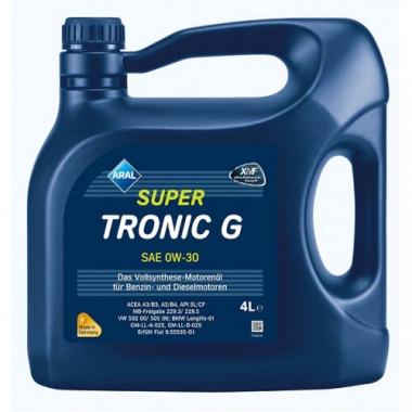 Моторное масло Aral SuperTronic G 0W-30 4 литра.