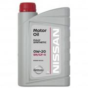 Моторное масло Nissan Motor Oil SN/GF-5 0W-20 1 литр.