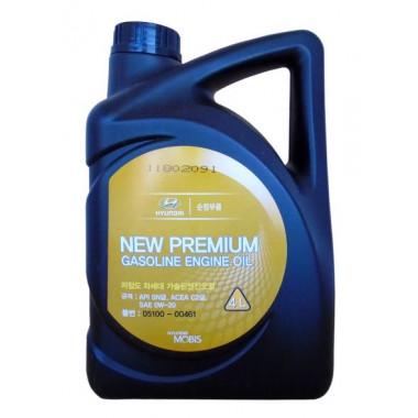 Моторное масло Hyundai Kia New Premium Gasoline 0W-20 4 литра.