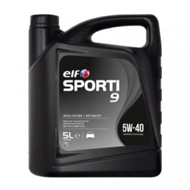 Моторное масло Elf Sporti 9 5W-40 5 литров.