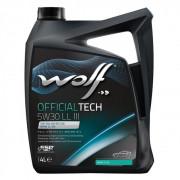 Моторное масло Wolf OFFICIALTECH 5W-30 LL III 4 литра.