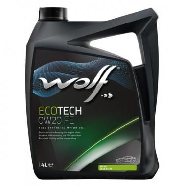 Моторное масло Wolf ECOTECH 0W-20 D1 FE 4 литра.