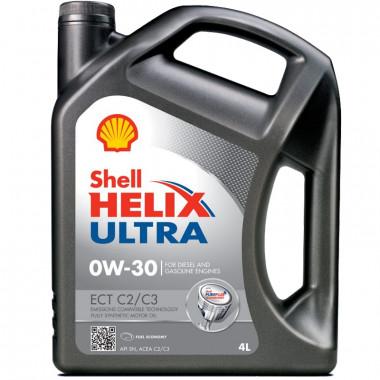 Моторное масло Shell Helix Ultra ECT C2/C3 0W-30 4 литра.
