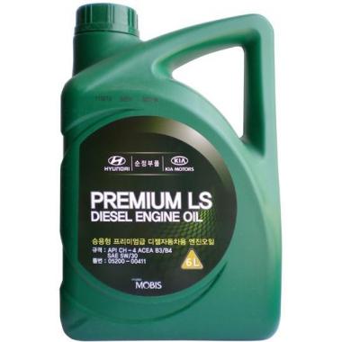 Моторное масло Hyundai Kia 5W-30 Premium LS Diesel 6 литров.