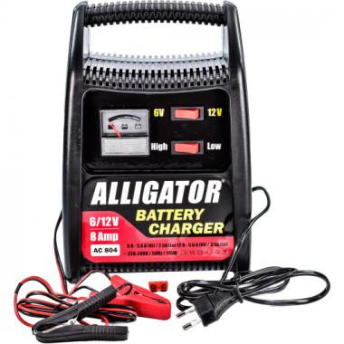 Автомобильное зарядное устройство аккумулятора 6/12В 8А ALLIGATOR AC804