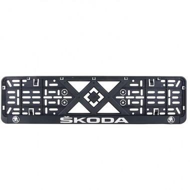 Рамка номерного знака Bi-Plast SKODA (объемные буквы) BP-284