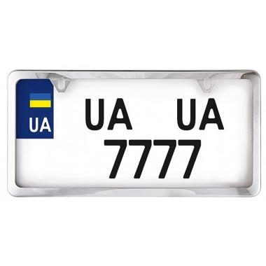 Рамка номерного знака Сarlife USA TYPE нержавеющая сталь / хром NH460