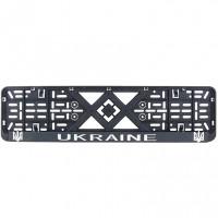 Рамка номерного знака Bi-Plast UKRAINE (объемные буквы) BP-260
