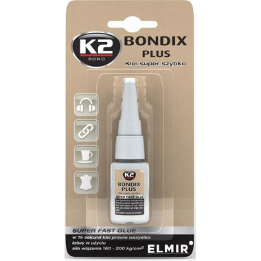 Суперклей 15 сек. K2 BONDIX PLUS 10 г.