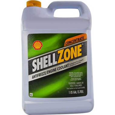 Концентрат антифриза ShellZone G11 (-80) зеленый 3,78 литра.